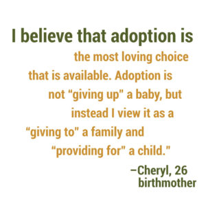 """Adoption is not """"giving up"""" a baby"""